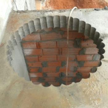 Furacão para escada caracol na Vila Esperança